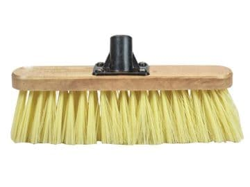 Soft Cream PVC Bristle Broom Head 300mm (12in) Threaded Socket